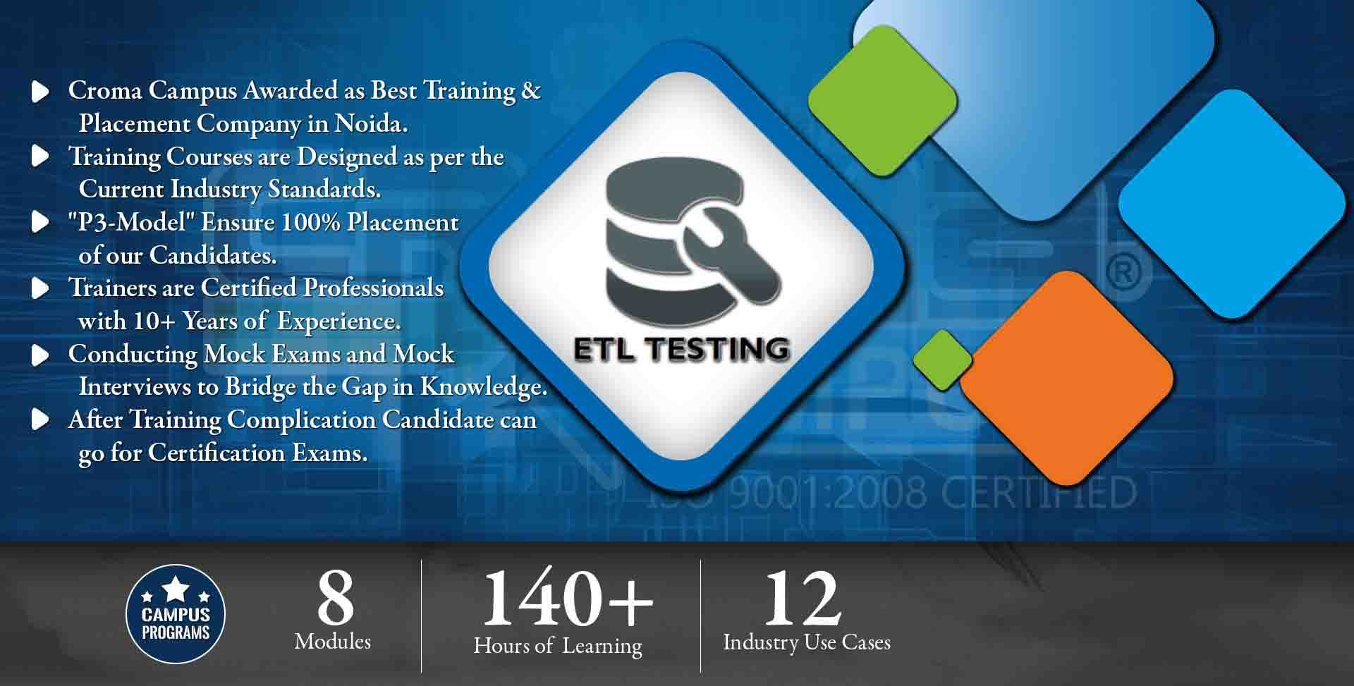 ETL Testing Training in Noida- Croma Campus