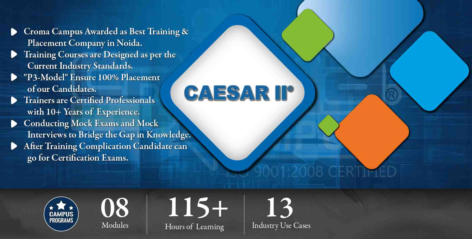 CAESAR 2 Training in Gurgaon- Croma Campus