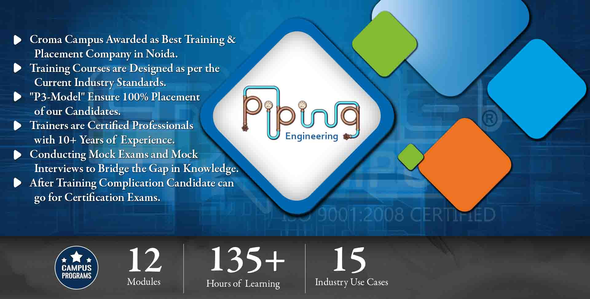 Piping Engineering Training In Noida Layout Optimization Croma Campus