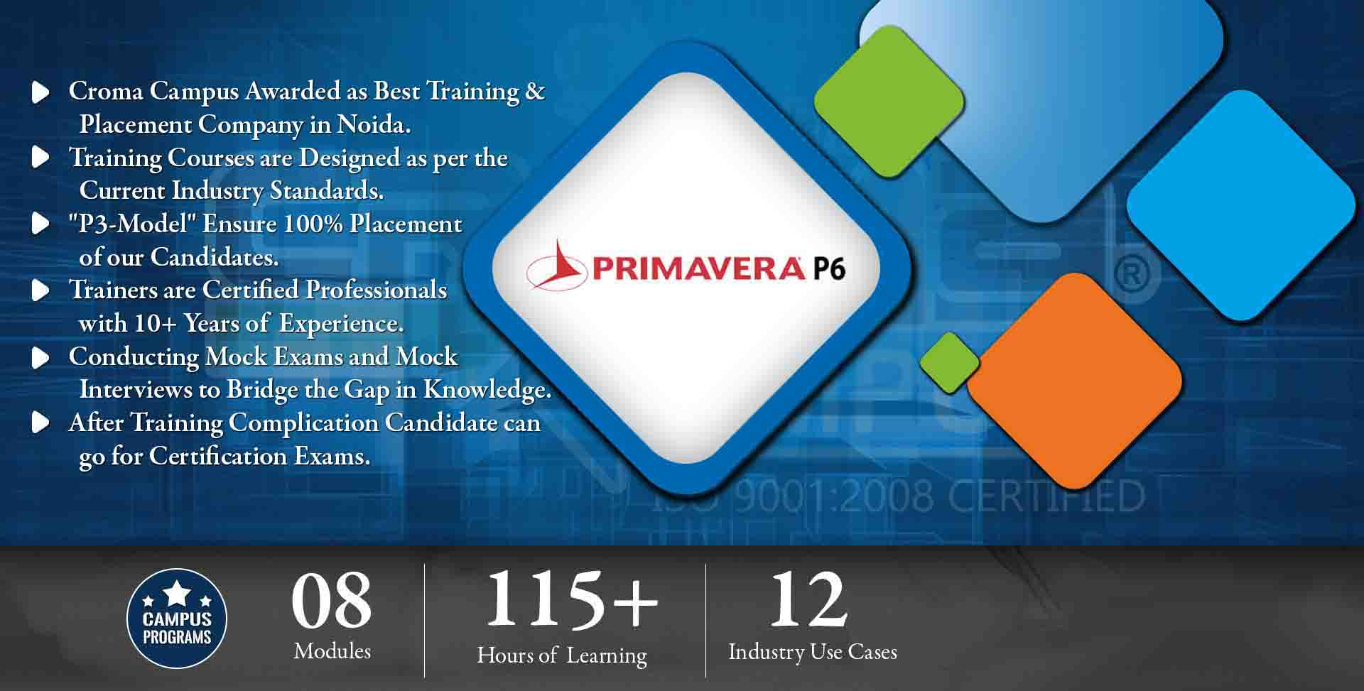 Primavera P6 Training in Gurgaon- Croma Campus
