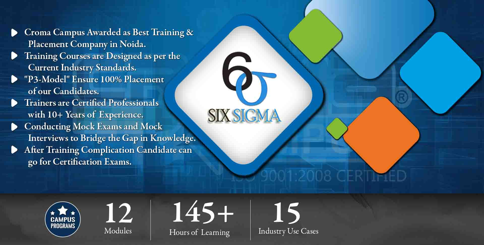 Six sigma green belt certification training in noida best six sigma six sigma yellow belt training in noida croma campus view sample certificate 1betcityfo Images