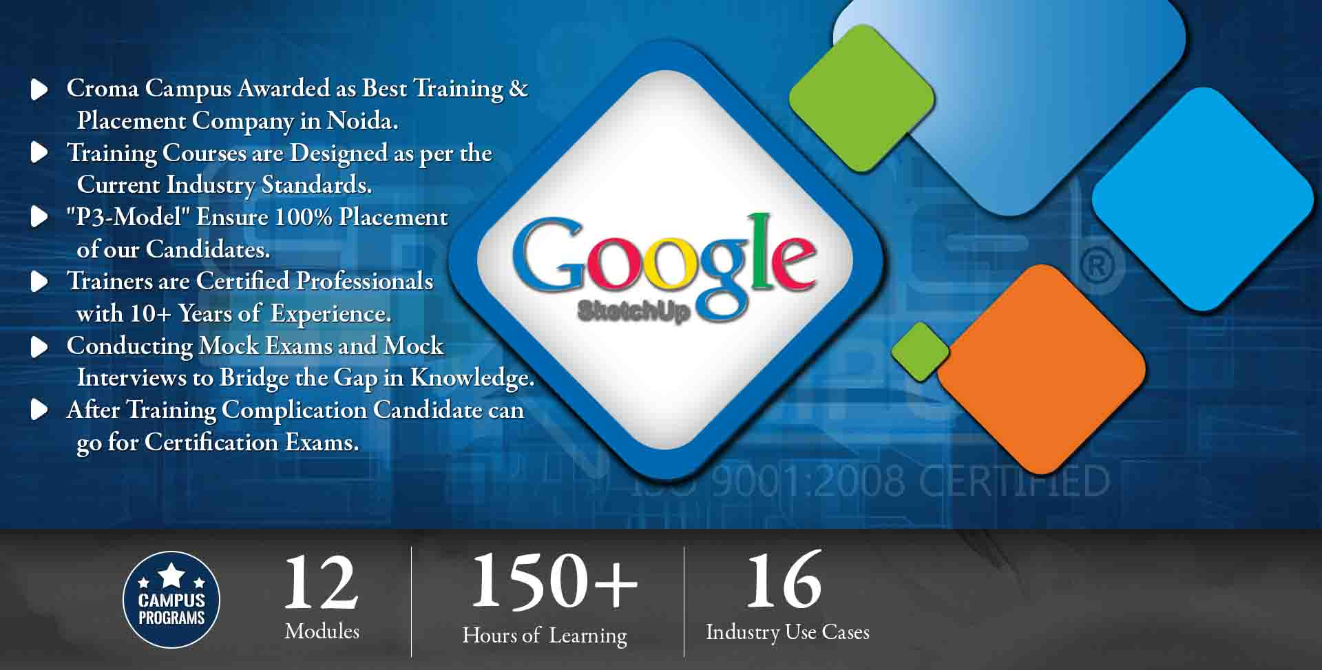 Google SketchUp Training in Noida- Croma Campus