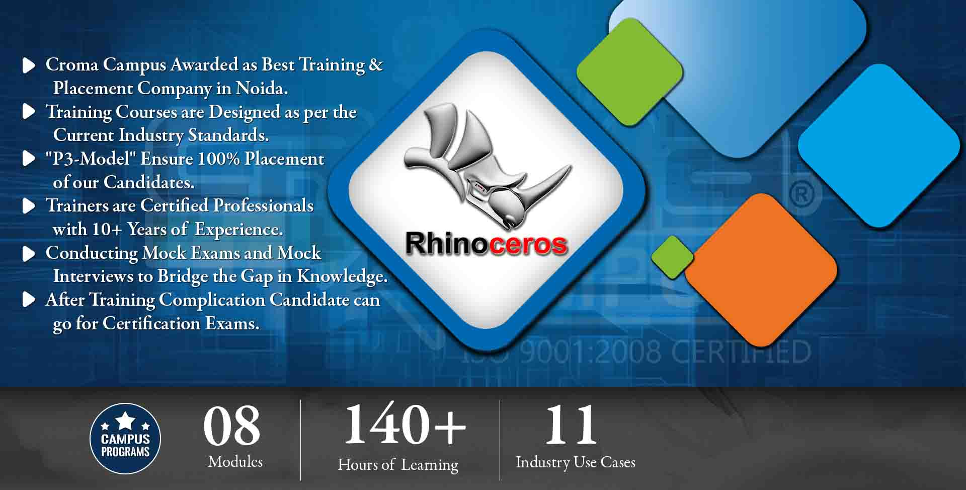 Rhinoceros 3D Training in Noida- Croma Campus