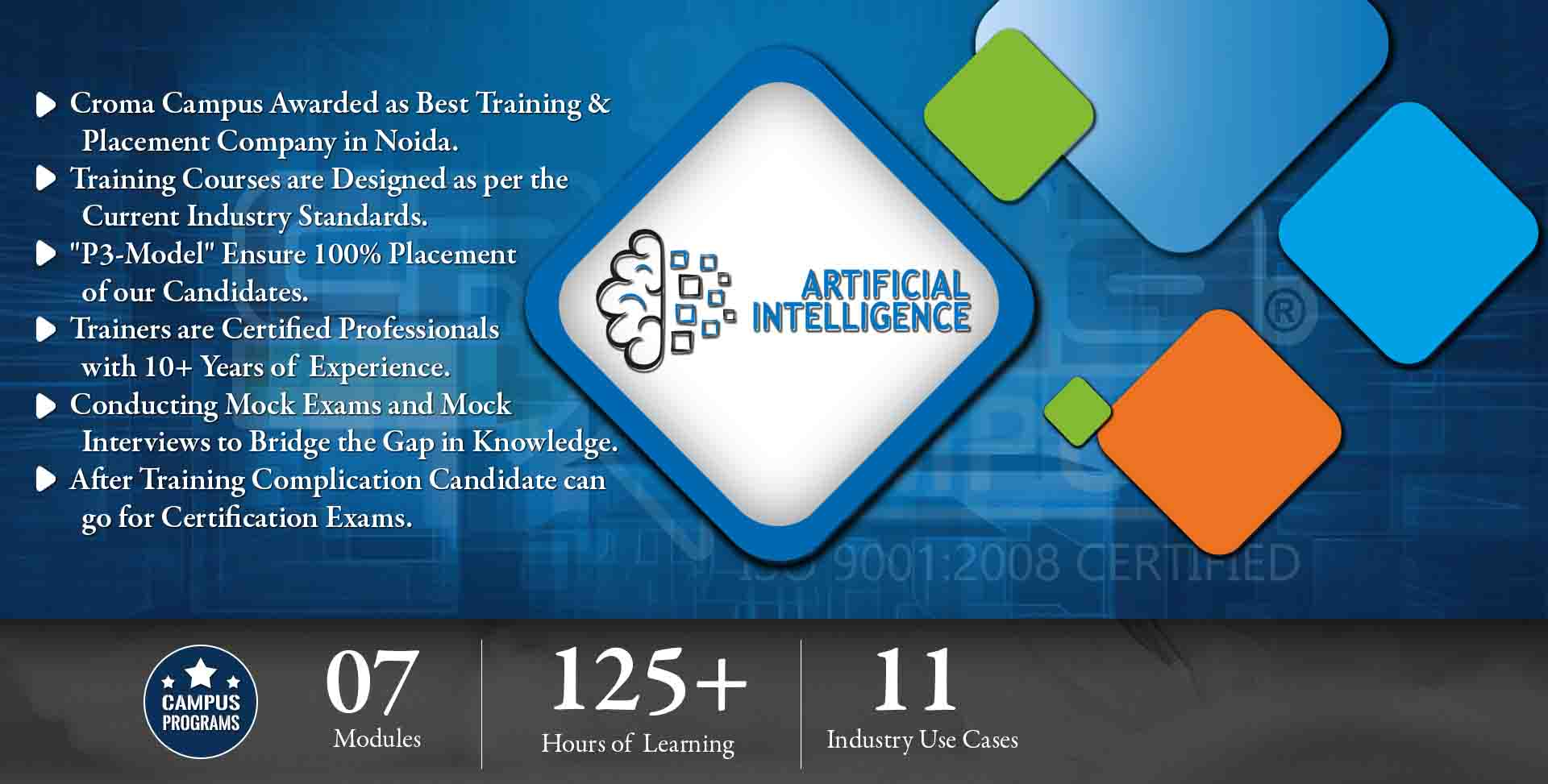 ARTIFICIAL INTELLIGENCE Training in Delhi- Croma Campus