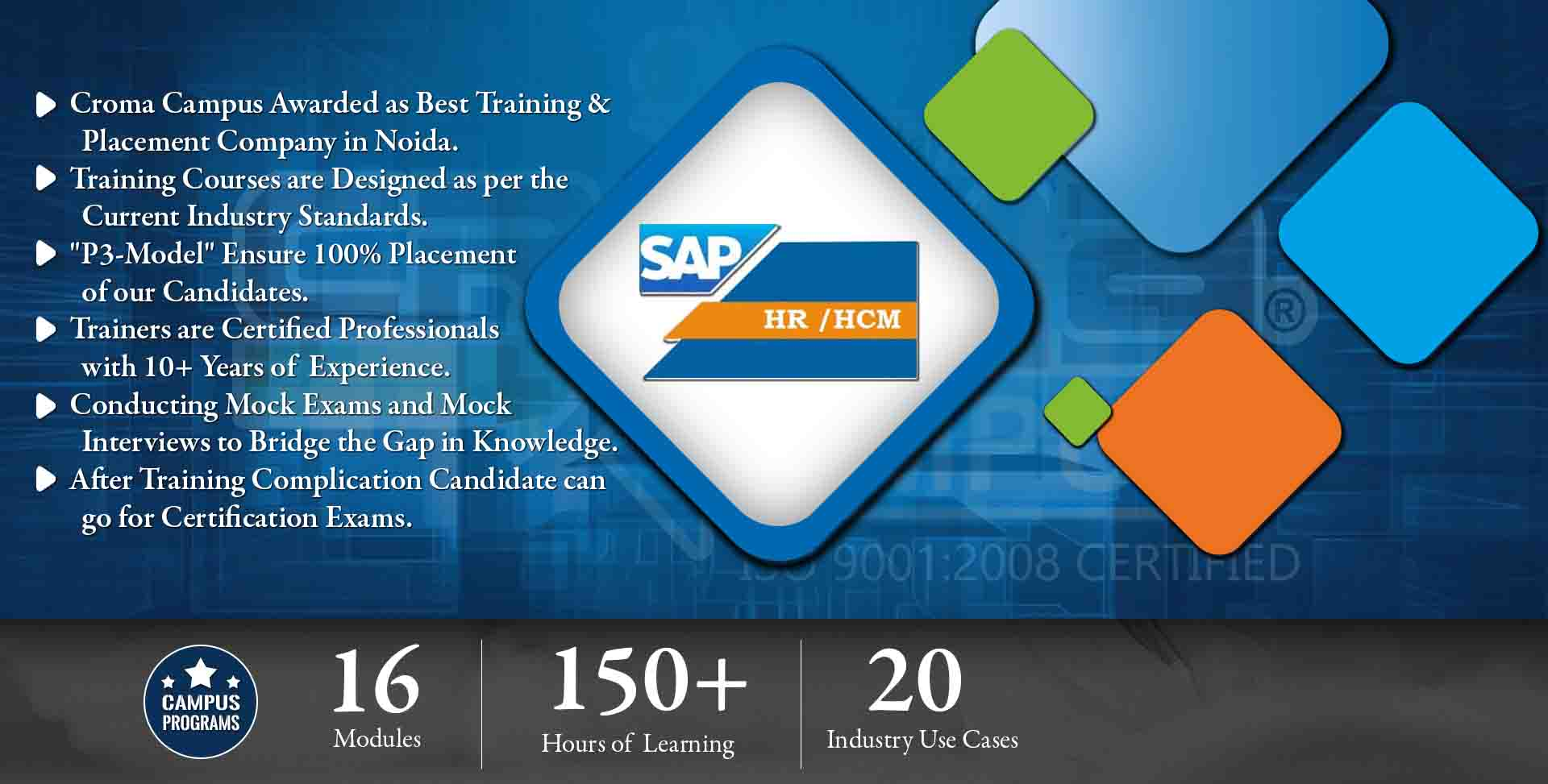 SAP HR (HCM)  Training in Noida- Croma Campus